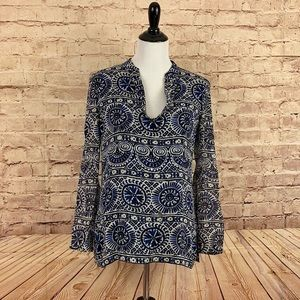 Tory Burch silk sequined blouse